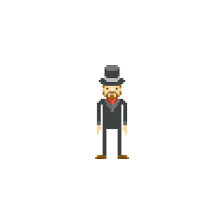 pixel art character Illustration