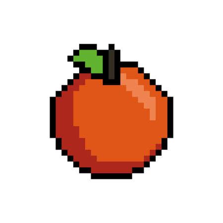 pixel art orange Illustration