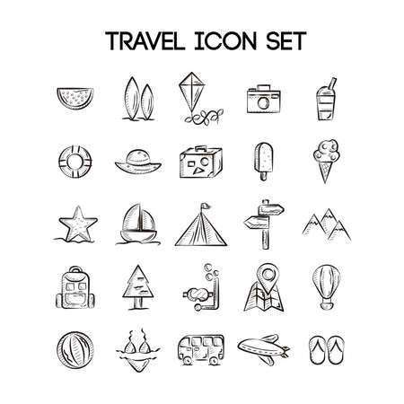 simple life: set of travel icons