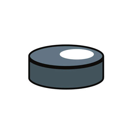 puck: ice hockey puck