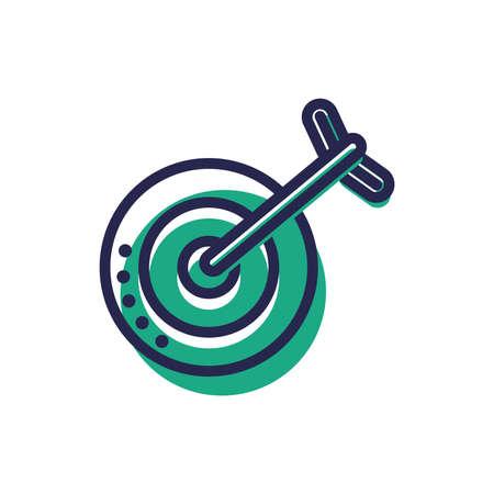business target concept Illustration