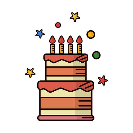 two-tiered birthday cake