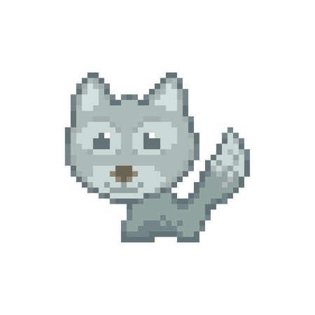 pixel art cat Иллюстрация