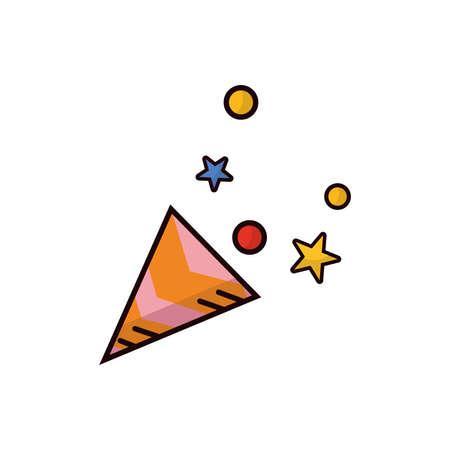 party confetti poppers Illusztráció