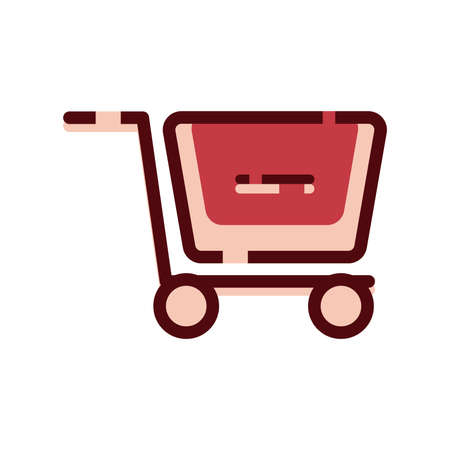 Menos articulo al carrito de compra simbolo Foto de archivo - 79261265