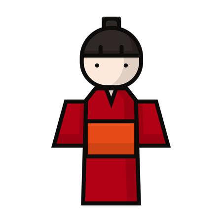 伝統的な日本の衣装の女性