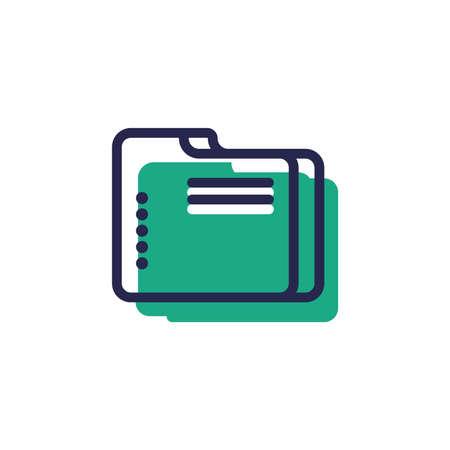 document folder symbol Ilustracja