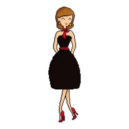 pixel art woman Illustration