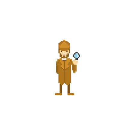 pixel art detective