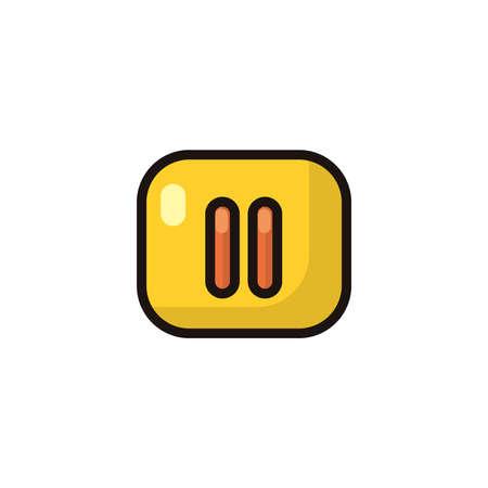 pause button Illusztráció