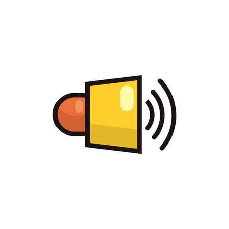 スピーカー ボタン  イラスト・ベクター素材