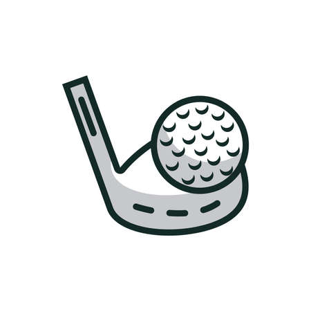 golf club with ball Illustration