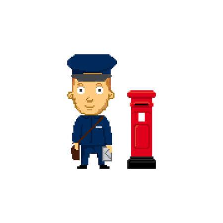 pixel art postman