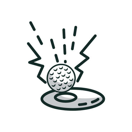 golf ball missed the hole