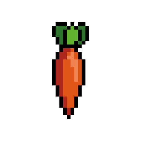 pixel art carrot