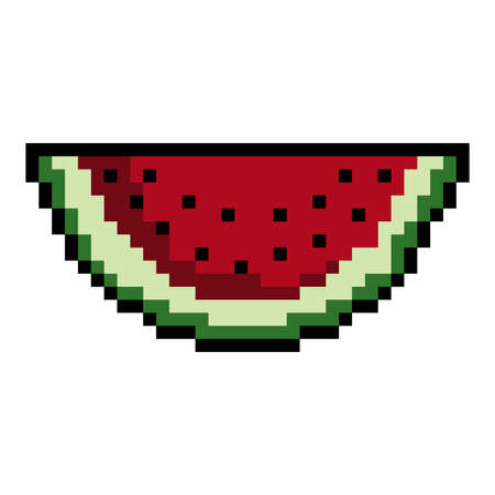 pixel art watermelon