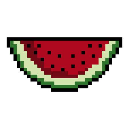pixel art watermelon