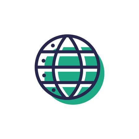 Wereldwijde business concept Stock Illustratie