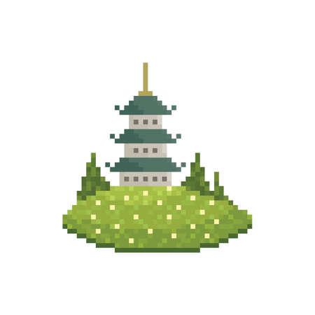 pixel japanese castle