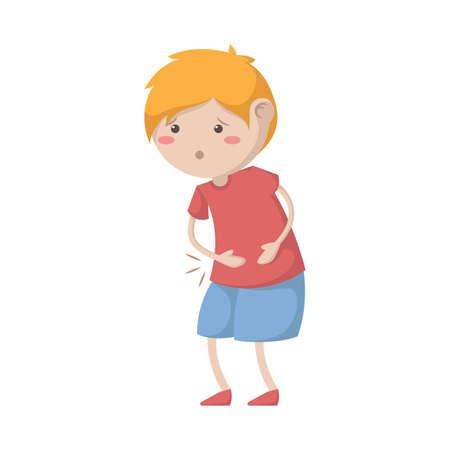 boy having a stomachache