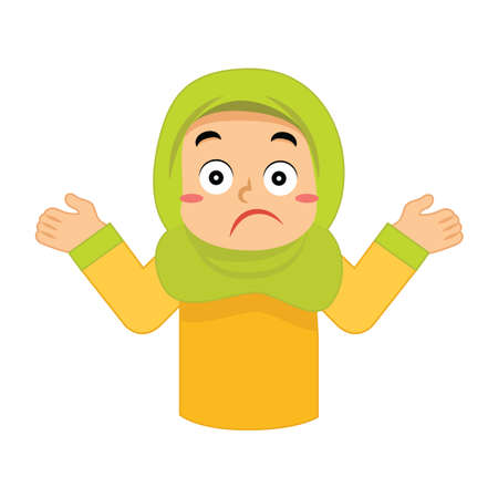 muslim girl feeling unsure