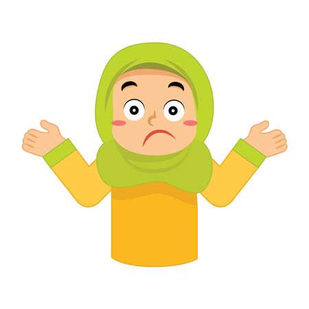 Muslimisches Mädchen, das sich unsicher fühlt Standard-Bild - 79809635