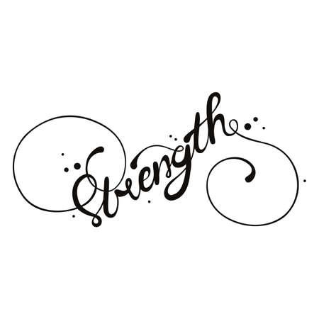 strength typography