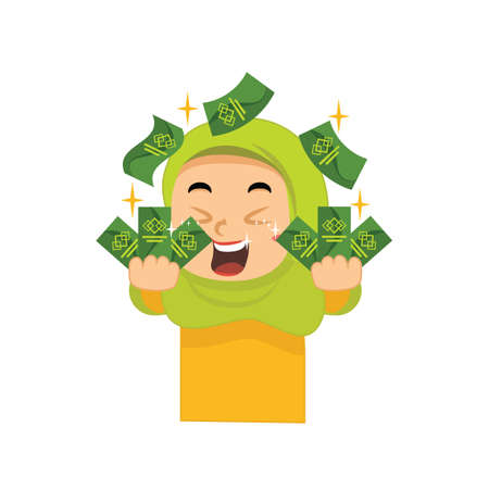 muslim girl with money