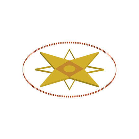 compass rose Ilustração