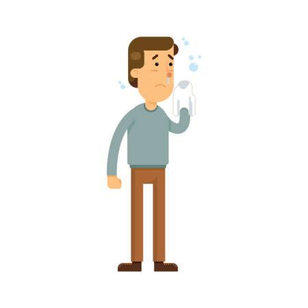 鼻水を持つ男