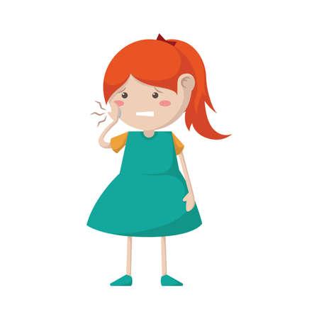 치통이있는 소녀