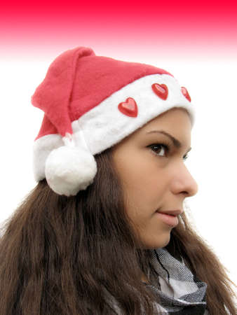 Girl with Santa hat Stock Photo - 5894859