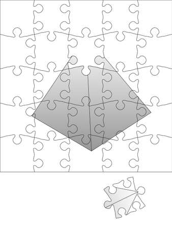 One piece to the success (transparent puzzle) Vector