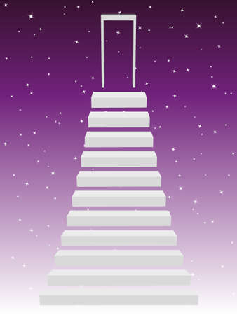 Stairs to the stars Vector