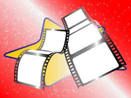 Two filmstrip Vector