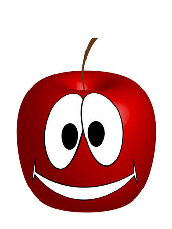 apple with eyes Stock Vector - 7079265