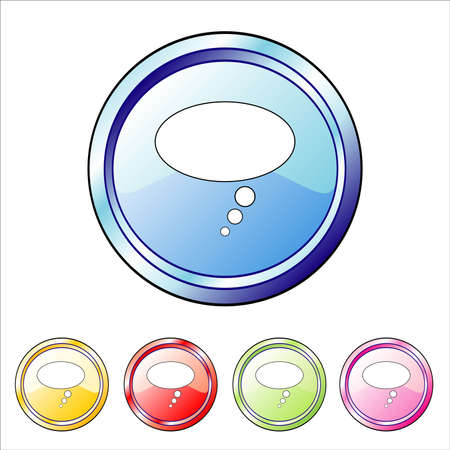 Blank bubble buttons Vector