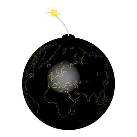 Earth bomb  Vector