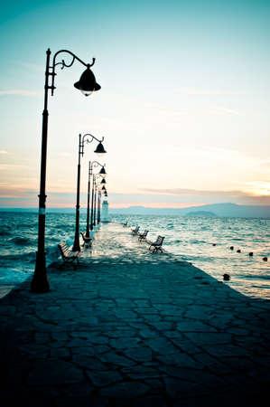 Pier at sunrise  photo