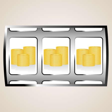 Dollar coins on the jackpot Vector