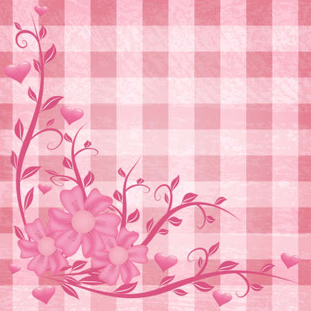 Floral pink background for mother's day Stock Vector - 9117492