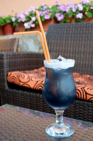 Cocktail on the table in the cafe photo