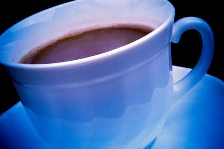 blue toned: Close-up shot of coffee - blue toned image Stock Photo