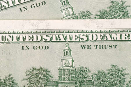 Back of hundred-dollar bill with the words
