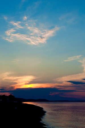 Sunset over the sea, on the beach Stock Photo - 13946758