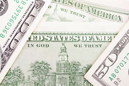 Label on the hundred Dollar-bill back, between bills of hundred and fifty Dollars photo