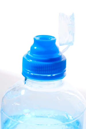 Top of the plastic bottle of the water photo