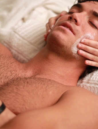 Close up of massage to a relaxed young man Stock Photo - 11424531