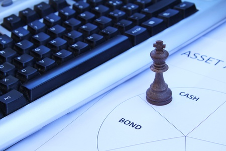 assets: Chess king symbolizing importance of cash in asset allocation