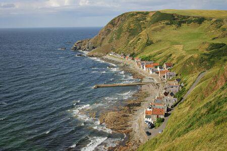 Beautiful scottish village on the east coast photo